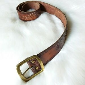 Athleta | Brown Genuine Leather Belt